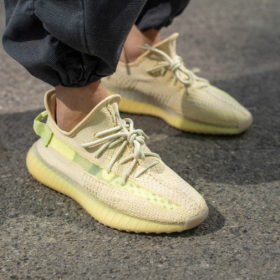 Adidas Men And Women Yeezy Boost 350 V2 Flax
